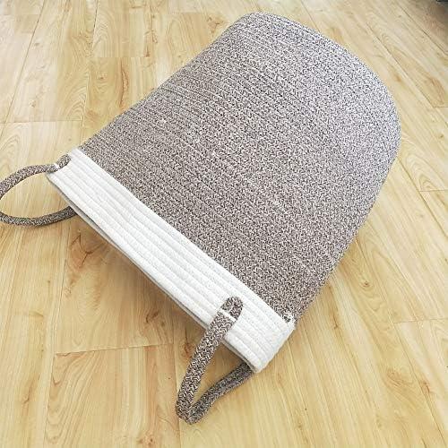 Mackur - Cesta de almacenaje (cuerda de algodón, cesta para la ropa, cesta de almacenaje, multifuncional): Amazon.es: Hogar