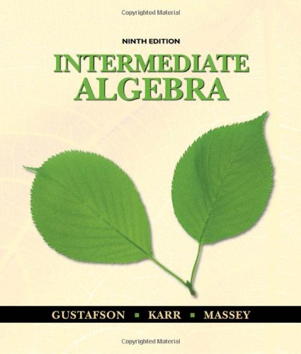 Intermediate Algebra, 9th Edition by Brooks