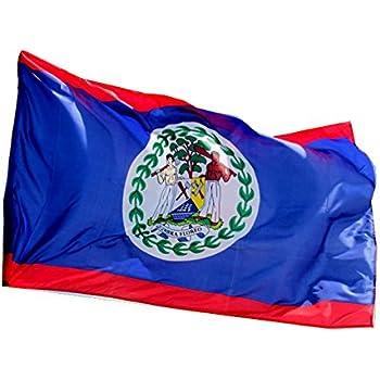 amazon com 3x5 polyester flag of belize flag of belize garden