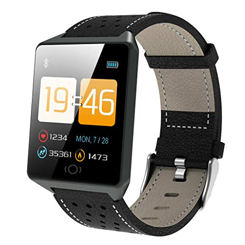 Fitness Tracker,Waterproof Activity Tracker Heart Rate Blood Pressure Monitor,Smart Wristband with Calorie Counter Watch Pedometer Sleep Monitor Bluetooth 4.0 Bracelet for Men Women Kids ()