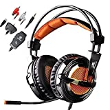 Sades SA-928 Stereo Lightweight Professional Gaming Headsets Headphone Headband with Microphone Volume Control for PC Laptop PS3 Xbox 360
