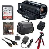 Canon Vixia HF R800 1080p HD Video Camera Camcorder (Black) with 32GB Card, Battery & Charger, Spider Tripod (Gorillapod), Case