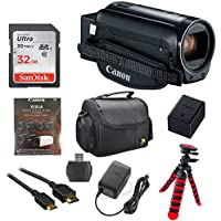 Canon Vixia HF R800 1080p HD Video Camera Camcorder (Black) with 32GB Card, Battery & Charger, Spider Tripod (Gorillapod), Case