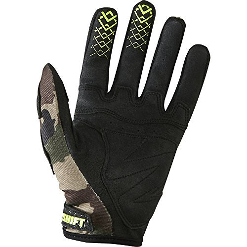 Shift Racing Recon Men's MotoX Motorcycle Gloves - Yellow Camo / Medium (Recon Motorcycle Gloves)