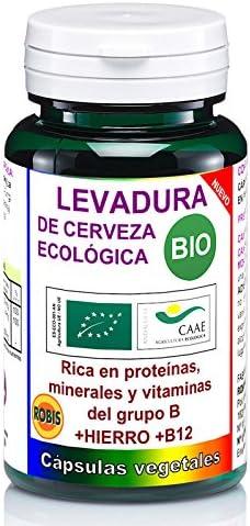 Robis Levadura de Cerveza Ecológica Bio Complemento Alimenticio Ecológico - 50 Cápsulas