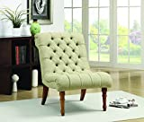 Cheap Tufted Accent Chair without Arms Mossy Green