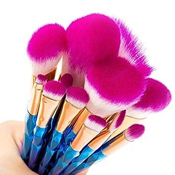 422a723a88fb Amazon.com: Laliva Unicorn Makeup Brushes 12pcs Thread Rainbow ...