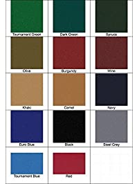 8u0027 Proform High Speed Professional Pool Table Cloth Felt   Euro Blue