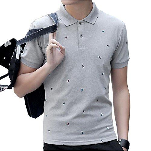 FEVON ポロシャツ メンズ tシャツ トップス シャツ ゴルフ スポーツウェア 半袖 夏 襟付き カジュアル かっこいい ファッション 船のプリント シンプル 高品質 poloシャツ 大きいサイズ 全4色