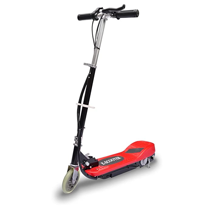 vidaXL Elektroroller Elektro Scooter Kinderroller Roller klappbar 120 W Rot