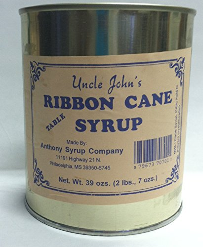 (Uncle Johns Ribbon Cane Table Syrup in a Metal 30fluid Ozs Can Weight 2lb 7oz)