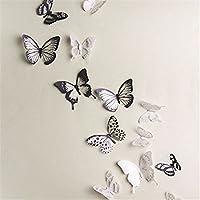 18 Piezas 3D Mariposa Pegatinas de Pared Adhesivo