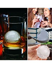 Get 4PC Big Ice Ball Cube Freeze Mold Bar Party Drink Ice Candy Chocolate Tray Maker deliver