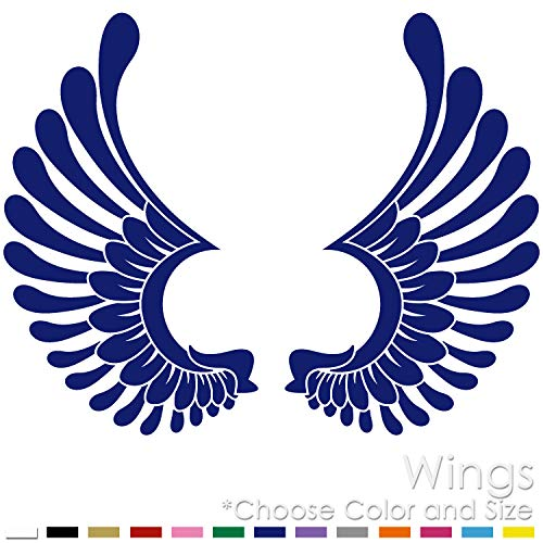 Left and Right Tribal Angel Wings Vinyl Decal Sticker (AW-01) ()