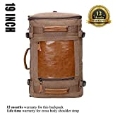 WITZMAN Men Canvas Backpack Large Travel Backpack
