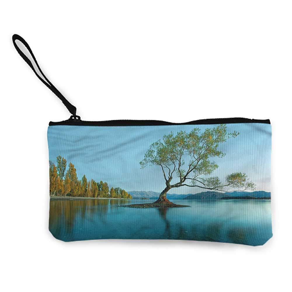 Womens Wristlet Handbags Nature,Thunderstorm Weather Theme,Cellphone Purse With Wrist Strap