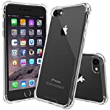 iPhone 7 Case, iPhone 8 Case, MOTEEV Crystal Clear Hard Cover Case [Shock Absorption] with Soft TPU Bumper for iPhone 7 (4.7 Inch 2016 Release) iPhone 8- Crystal Clear