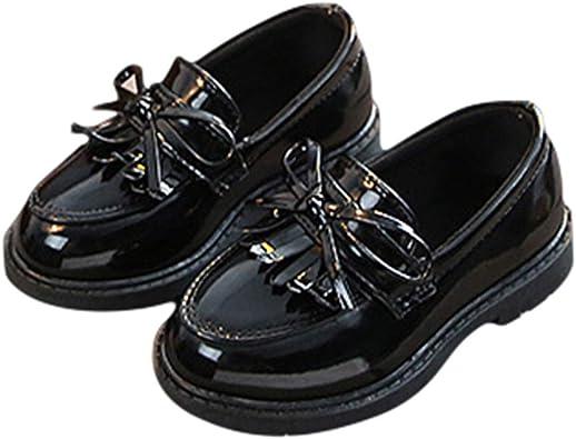 Mocasines Mary Jane Niñas Zapatos de Cuero de PU Retro Borla ...
