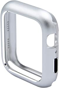 UKCOCO Magnetic Adsorption Metal Frame Protective Case Luxury Cover Shell Bumper for Apple Watch Series 4 40mm (Silver)