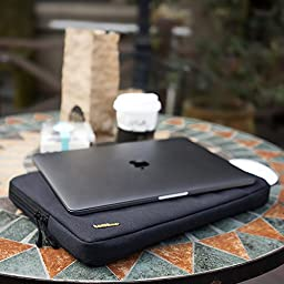 Tomtoc 360° Protective Sleeve for 13-13.3 Inch MacBook Pro Retina/ MacBook Air/ 12.9 Inch iPad Pro, Shockproof, Spill-Resistant, Black Blue