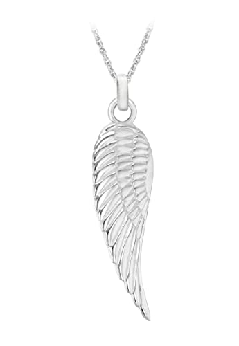 silver pendant il angel gold etsy rose wing feather market necklace