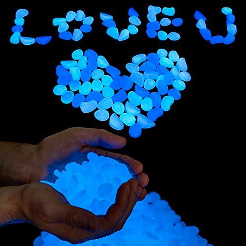 SallyFashion Leuchtsteine, 500g Leuchtende Kieselsteine Leuchtkiesel Dekosteine für Gehwege Aquarium Pflanzen Garten Kinderzimmer Dekoration