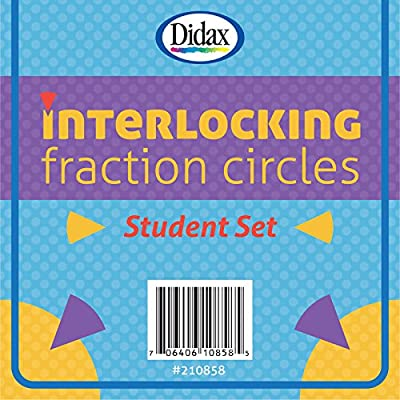 Didax Educational Resources Student Interlocking Fraction Circles: Toys & Games