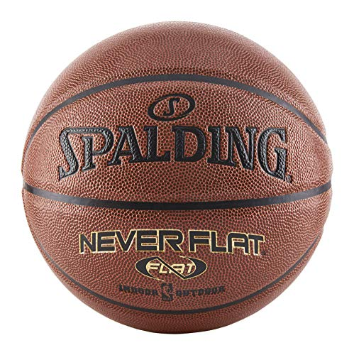 Spalding Never Flat Basketball - Official Size 7 (29.5