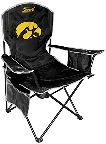 NCAA Iowa Hawkeyes Unisex NCAA Cooler Quad Chairncaa Cooler Quad Chair (All Team Options), Yellow, X-Large ()