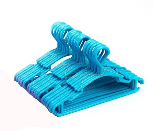 Tosnail Kinder Kleiderbügel 30 Stück, blau