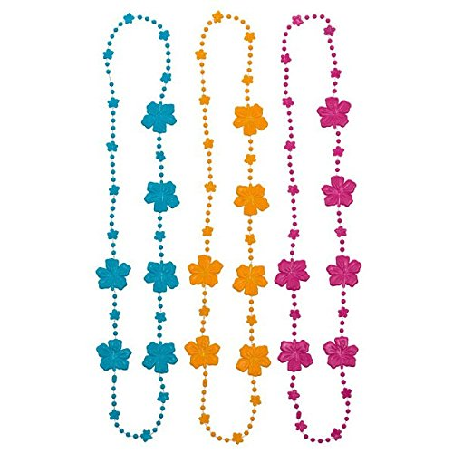 (Amscan Hibiscus Bead Party Necklaces, 30