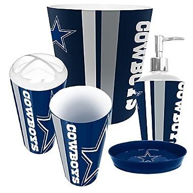 Dallas Cowboys NFL Complete Bathroom Accessories 5pc Set