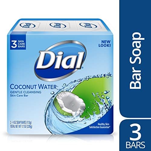 Dial Skin Care Bar Soap, Coconut Water, 4 Ounce, 3 Bars (Glycerin Soap Coconut)