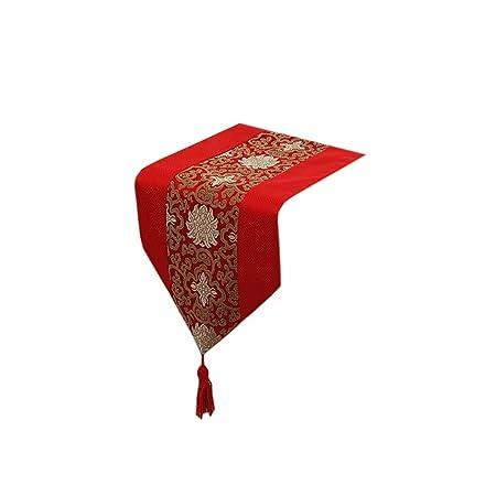 Camino de Mesa Rojo, Camino de Mesa romántico para Boda, Navidad ...