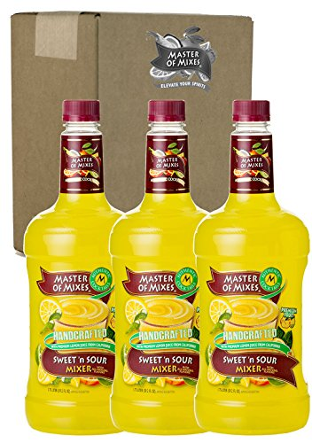 Master of Mixes Sweet N' Sour Drink Mix, Ready To Use, 1.75 Liter Bottle (59.2 Fl Oz), Pack of 3
