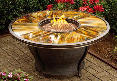 CC Outdoor Living 5-Piece Round Glass Top Gas Fire Pit Set ... on Cc Outdoor Living id=24451