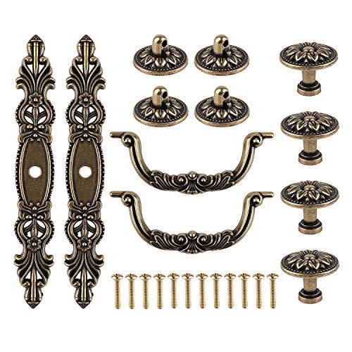 Vintage Antique Bronze Color Dresser Drawer Knobs Pulls Handles,2PCS Handle Pulls,2Pcs Handle Knobs,2PCS Pulls Handles