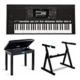 : Yamaha PSR-S775 61-Key Digital Arranger Workstation with Knox Stand and Piano Bench