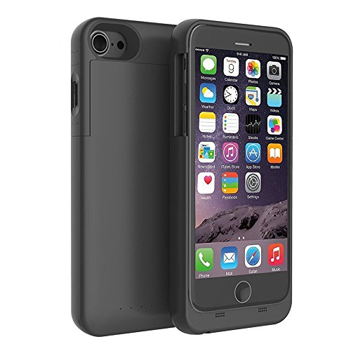 COOLEAD Battery Case for iPhone 7 Charging Case 3200mAh Extended Battery Pack Power Cases Bank Cover [Black] -