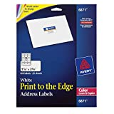 """Avery White Laser Labels for Color Printing, 1-1/4"""" x 2-3/8 Label, 450 per Pack (6871)"""