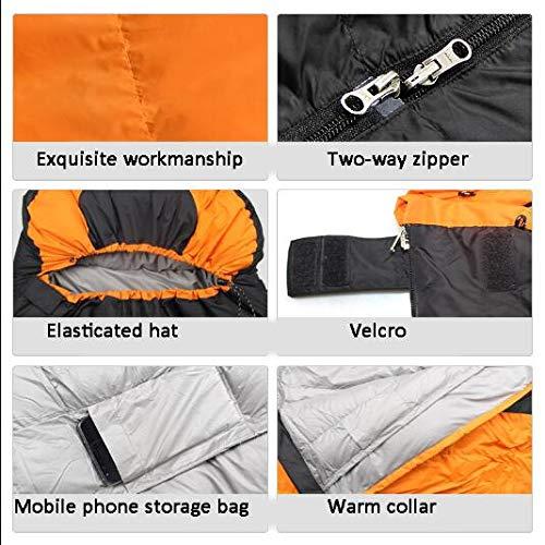 Huies Saco de Dormir de Clima frío de -25 Grados centígrados con Bolsa de compresión para Caminatas de Campamento para Adultos,Orange: Amazon.es: Deportes y ...