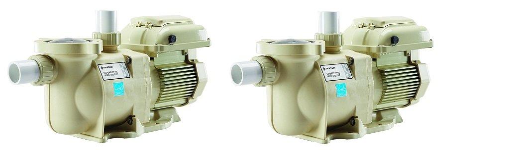 Pentair 342001 SuperFlo VS Variable Speed Pool Pump, 1 1/2 Horsepower, 115/208-230 Volt, 1 Phase - Energy Star Certified (2-Pack)