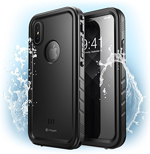 Clayco CL-IPHX-Omni-BK [Omni] Full-Body Rugged Case with Built-in Screen Protector for iPhone Xs/X 5.8 Inch 2018 (Black)