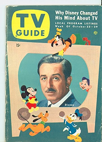 1954 TV Guide Oct 23 Walt Disney and his creations - Cincinnati-Dayton Edition Very Good (3 out of 10) Well Used...