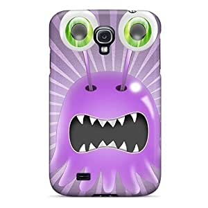 Tpu Case Cover For Galaxy S4 Strong Protect Case - Little Monster Design