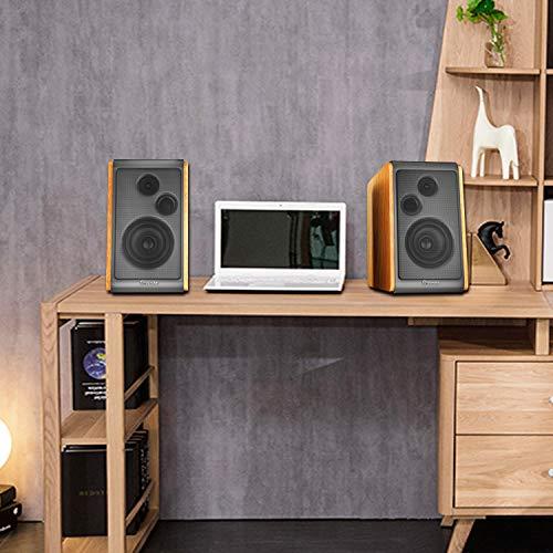 Stylish wood bookshelf speaker