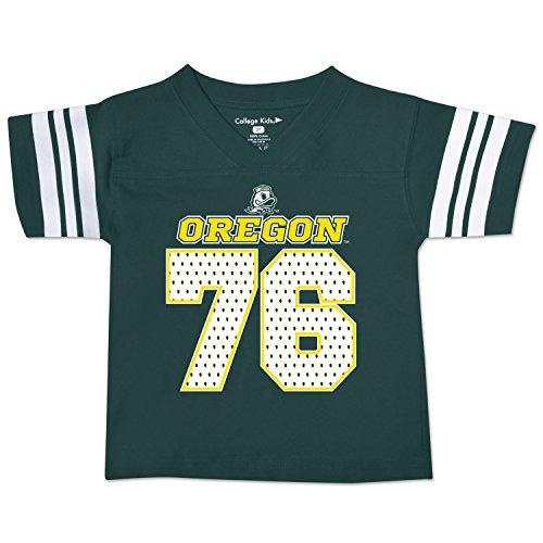 NCAA Oregon Ducks Toddler Football Tee, 4 Toddler, Dark Green
