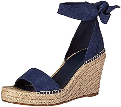 Marc Fisher Women's Kaee Espadrille Wedge Sandal, Insignia Blue, 10 Medium US