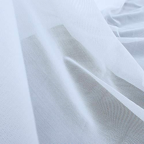 FidgetGear High-Elastic Ultrafine Nylon Fabric Nude Flesh 4 Way Stretch Spandex Mesh White