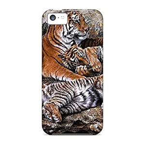 For Iphone 5c Tpu Phone Cases Covers(beautifultigers) Black Friday